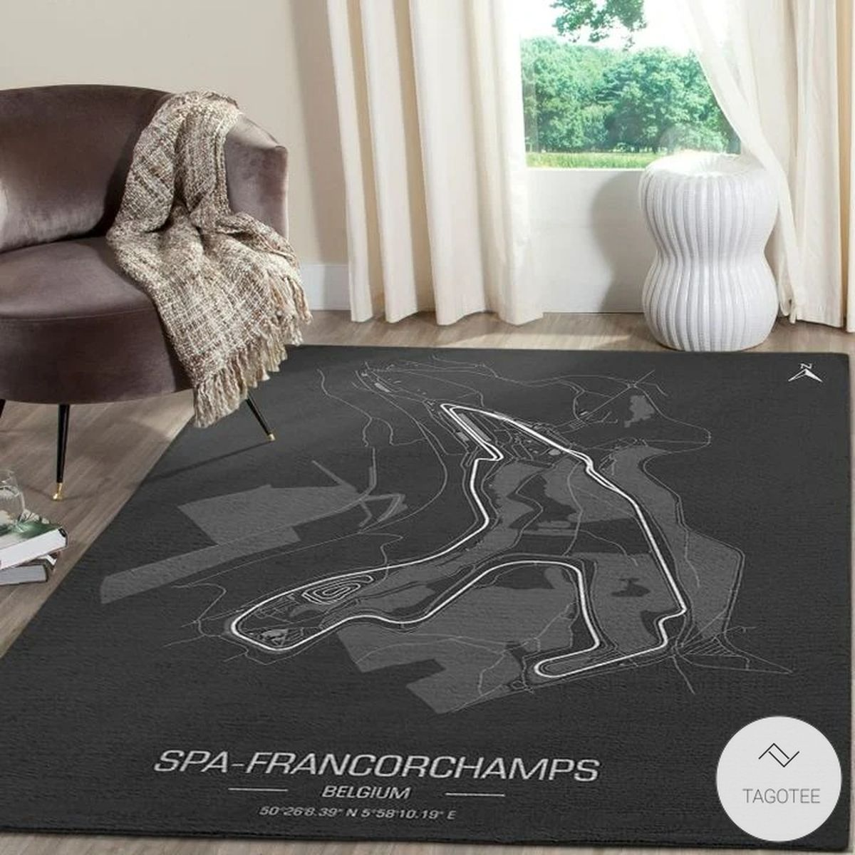 Spa-Francorchamps F1 Circuit Map Rug