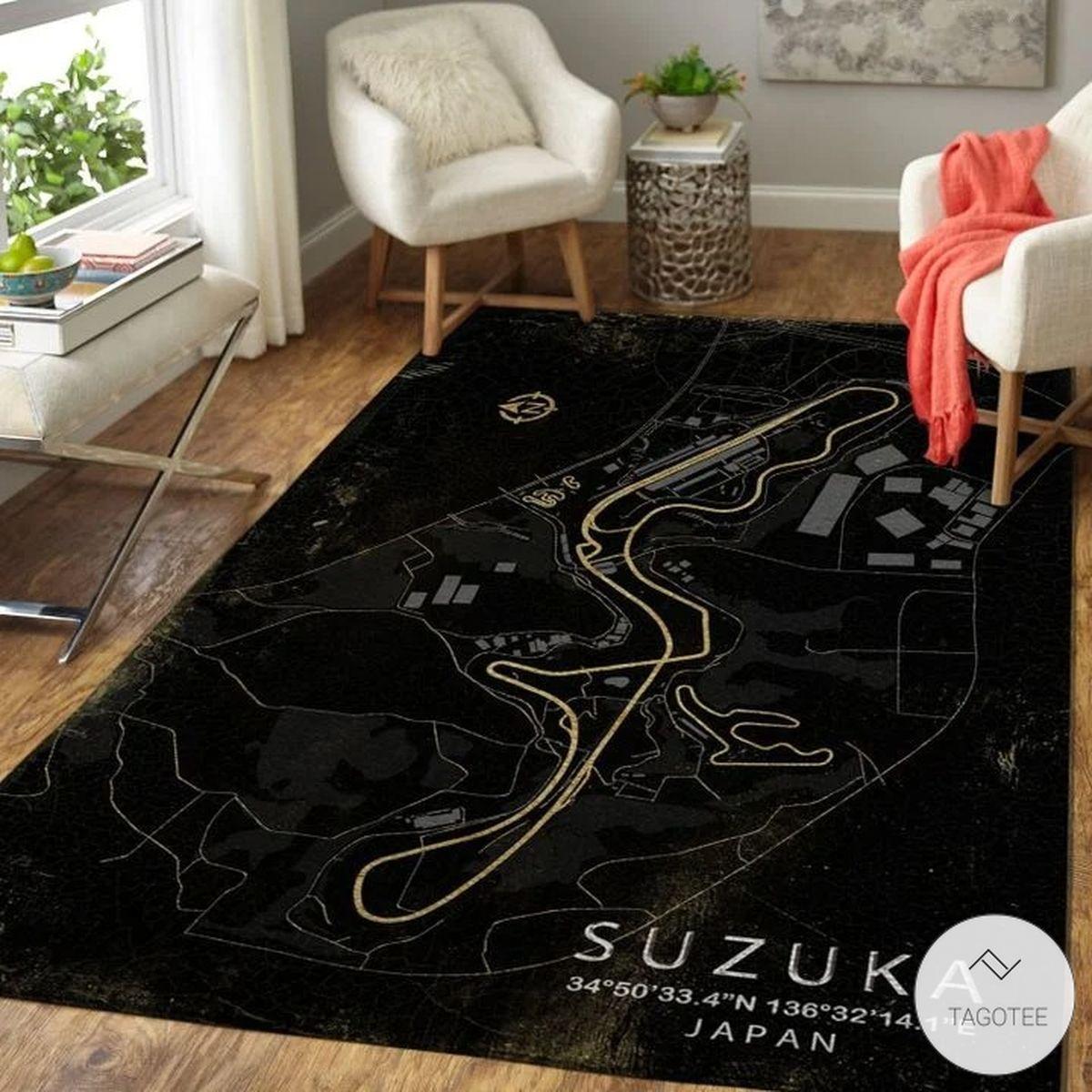 Suzuka Japan F1 Circuit Map Rugz
