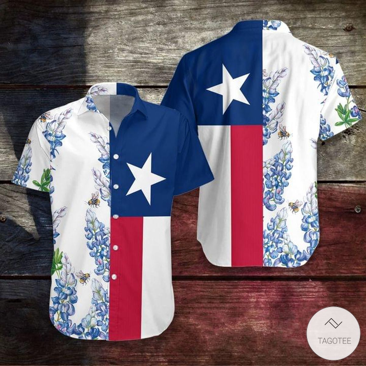 Texas Bluebonnet Hawaiian Shirt