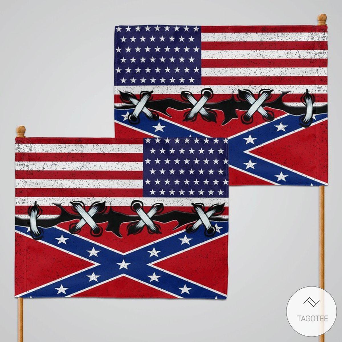 The Confederate Flag And US Flagz