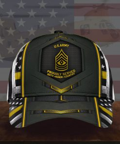 U.S Army Proudly Served Duty Honor Country 3D Cap