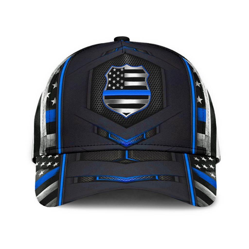 US Police Flag 3D Cap