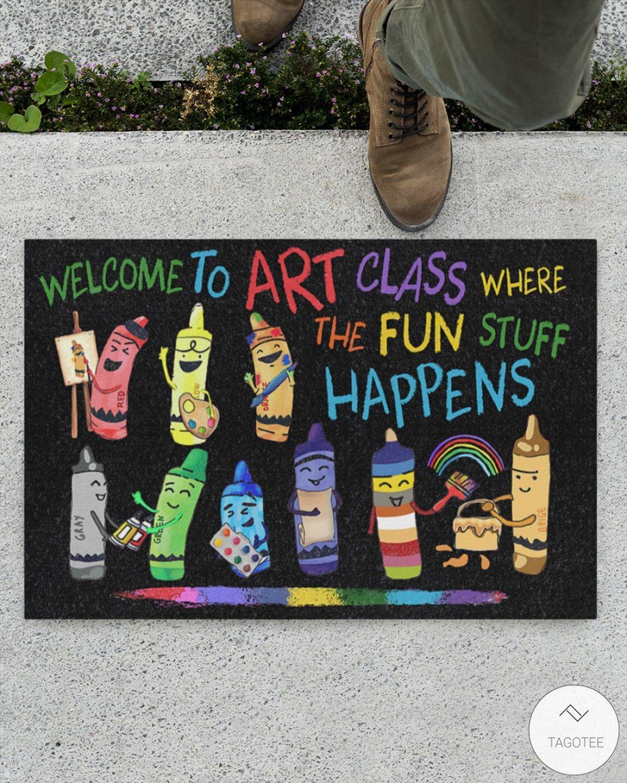 Welcome to art class where the fun stuff happens doormatz