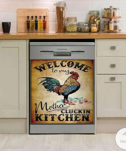 Welcome to my mother cluckin kitchen dishwasher cover