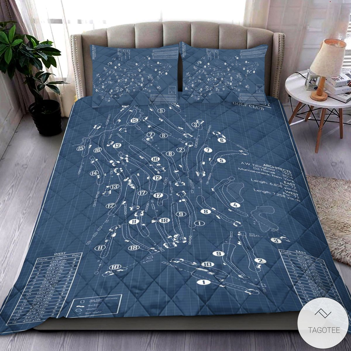 Winged Foot Golf Club 3D Quilt Bedding Set