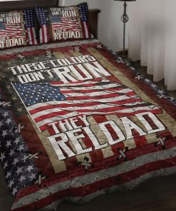 America These Colors Don't Run Quilt Bedding Set