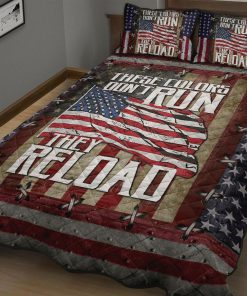 America These Colors Don't Run Quilt Bedding Setz