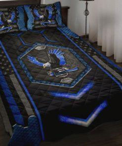 American Blue Eagle Quilt Bedding Set