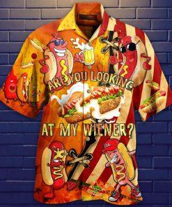 Are you looking at my wiener hawaiian shirt