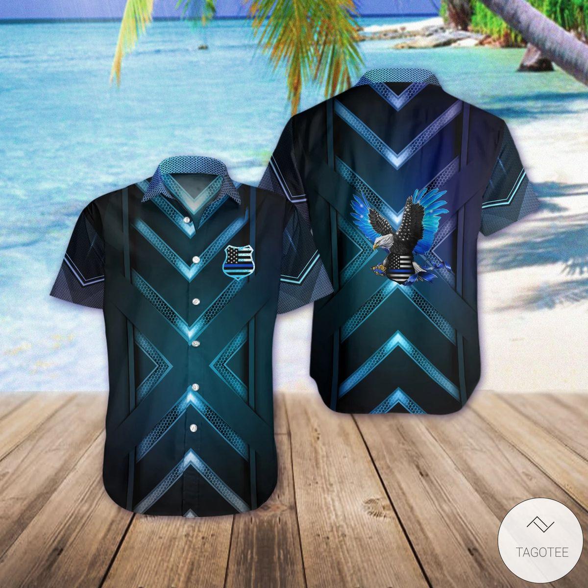 Back The Blue Eagle Hawaiian Shirt