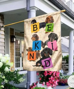 Be Kind Dachshund Flag
