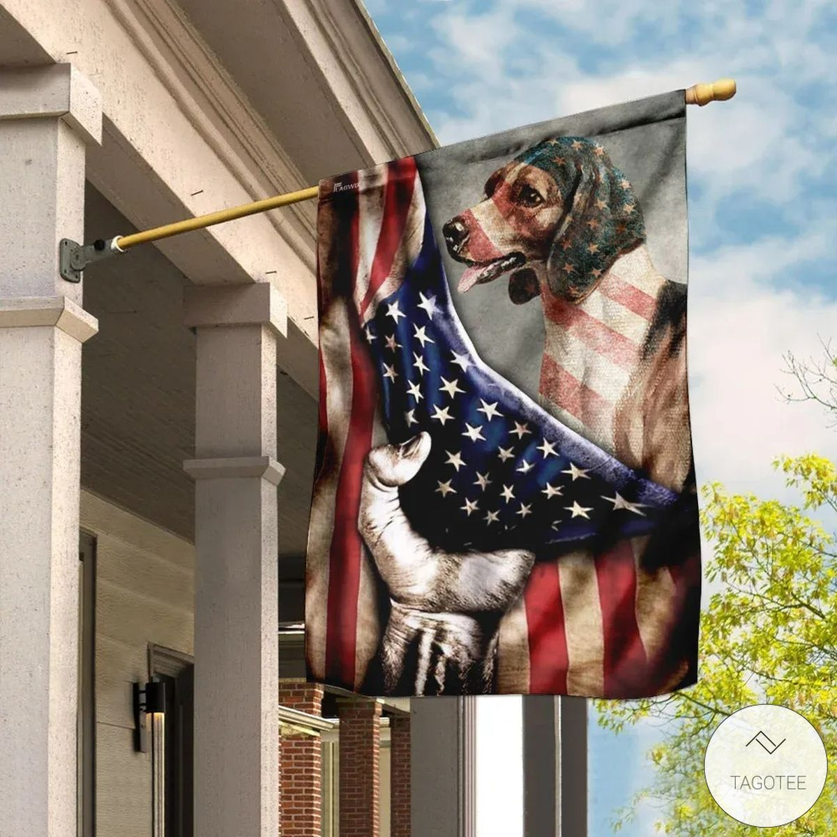 Beagle American Flag