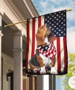 Beagle Happy 4th Of July American US Flag