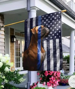 Boxer The Thin Blue Line American Flag