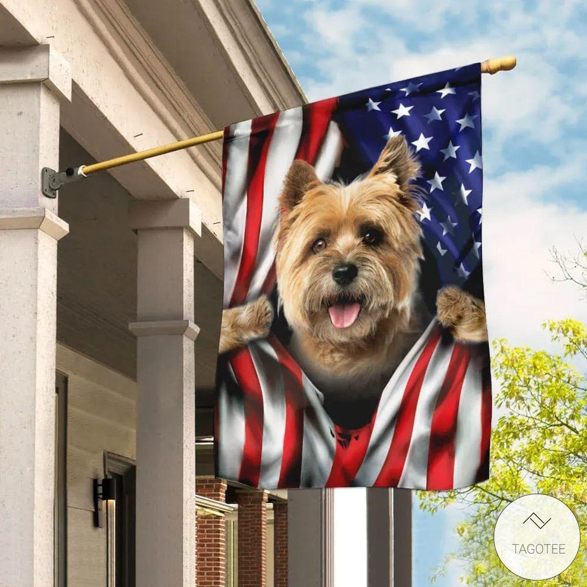 Cairn Terrier American Flag