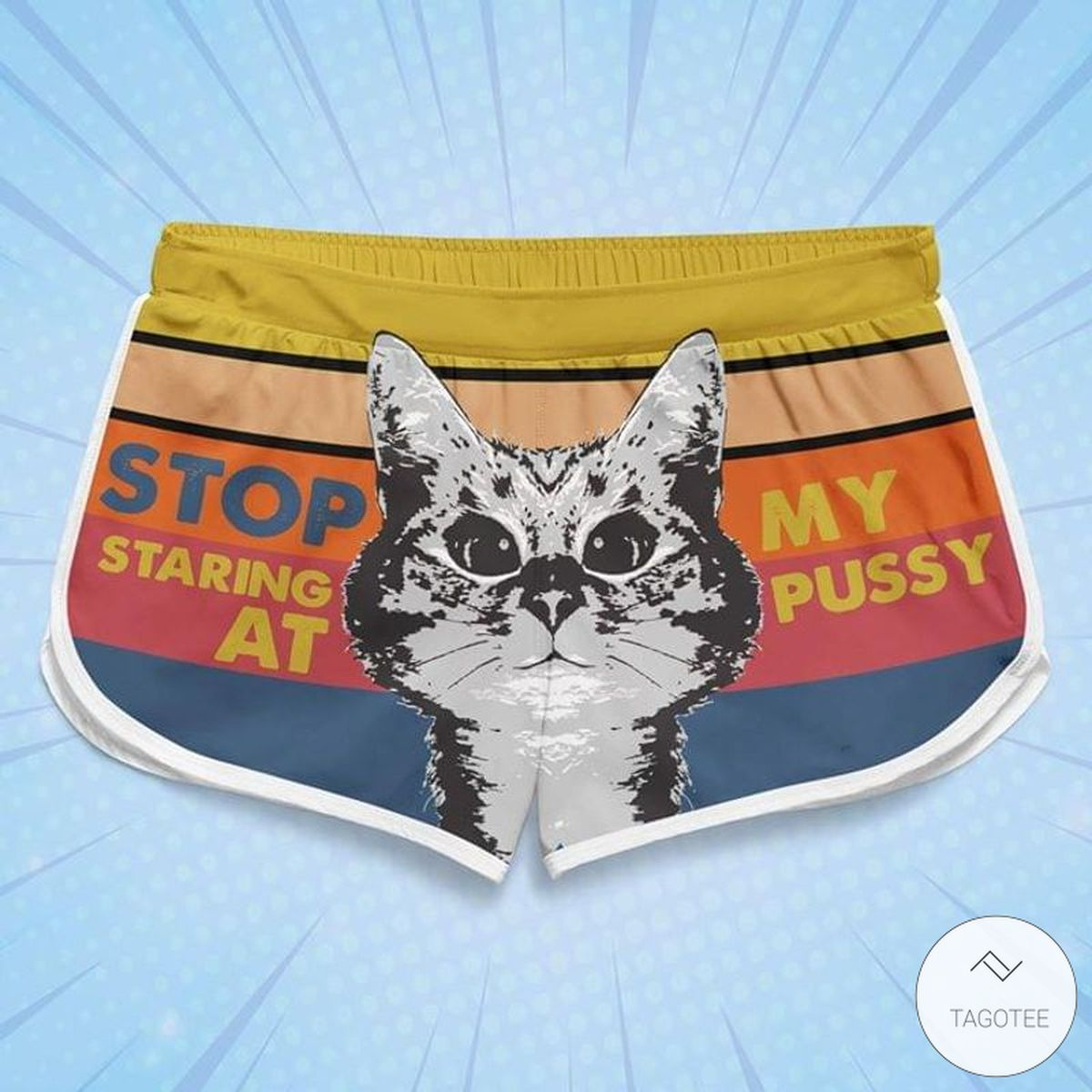 Cats Stop Staring At My Pussy Women Board Shorts