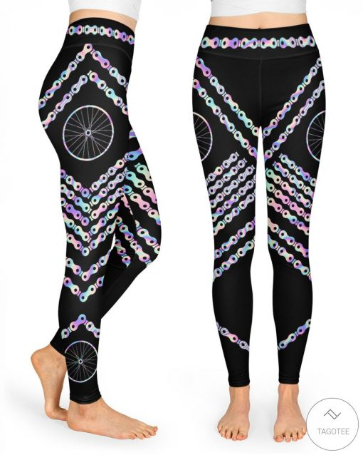 Cycling Holographic High Waist Leggings