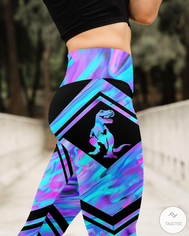 Dinosaur Lovers Holographic High Waist 3D Leggingsz