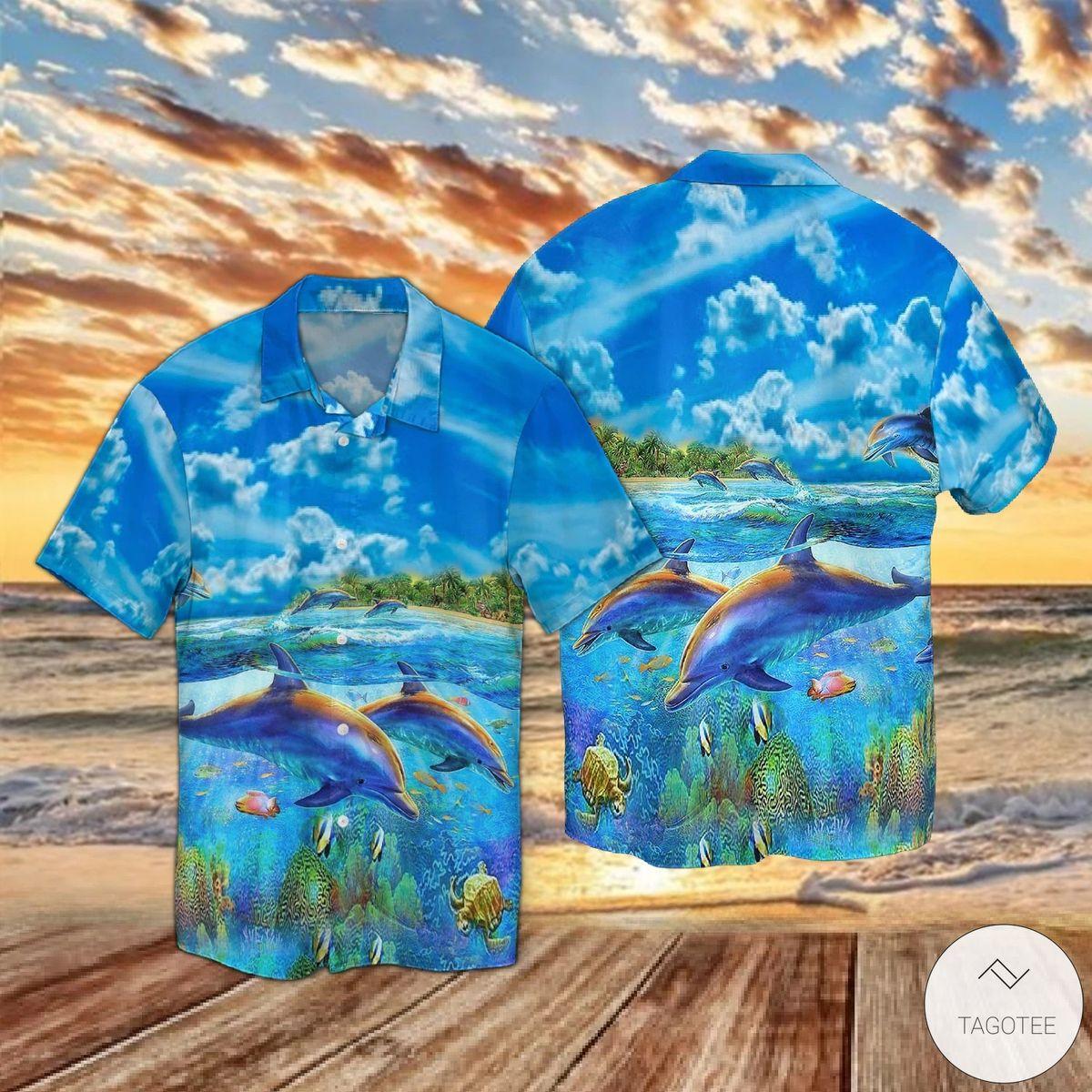 Dolphins Under The Sea Hawaiian Shirt