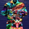 Formula One Car Neon Hawaiian Shirt