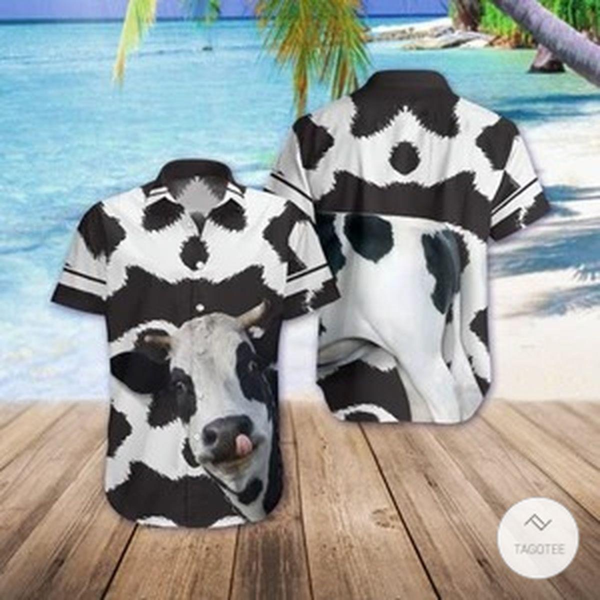 Funny Cow 3D Hawaiian Shirtz