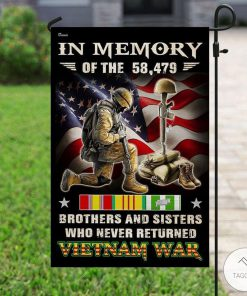 In Memory Of The 58479 Brothers And Sisters Who Never Returned Vietnam War Flag