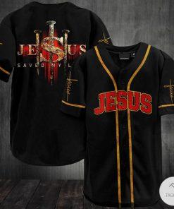 Jesus Saved My Life Baseball Jersey