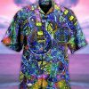 Kaleidoscope Guitar Hawaiian Shirt