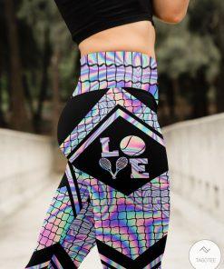 Love Tennis Holographic High Waist Leggingsz