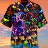 Mushroom Neon Hawaiian Shirt