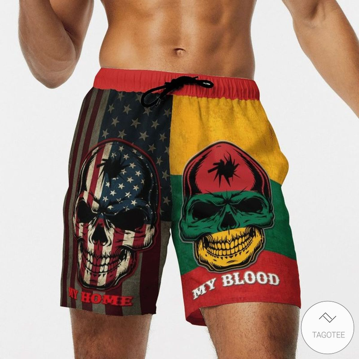 My Home My blood Lithuania Beach Short