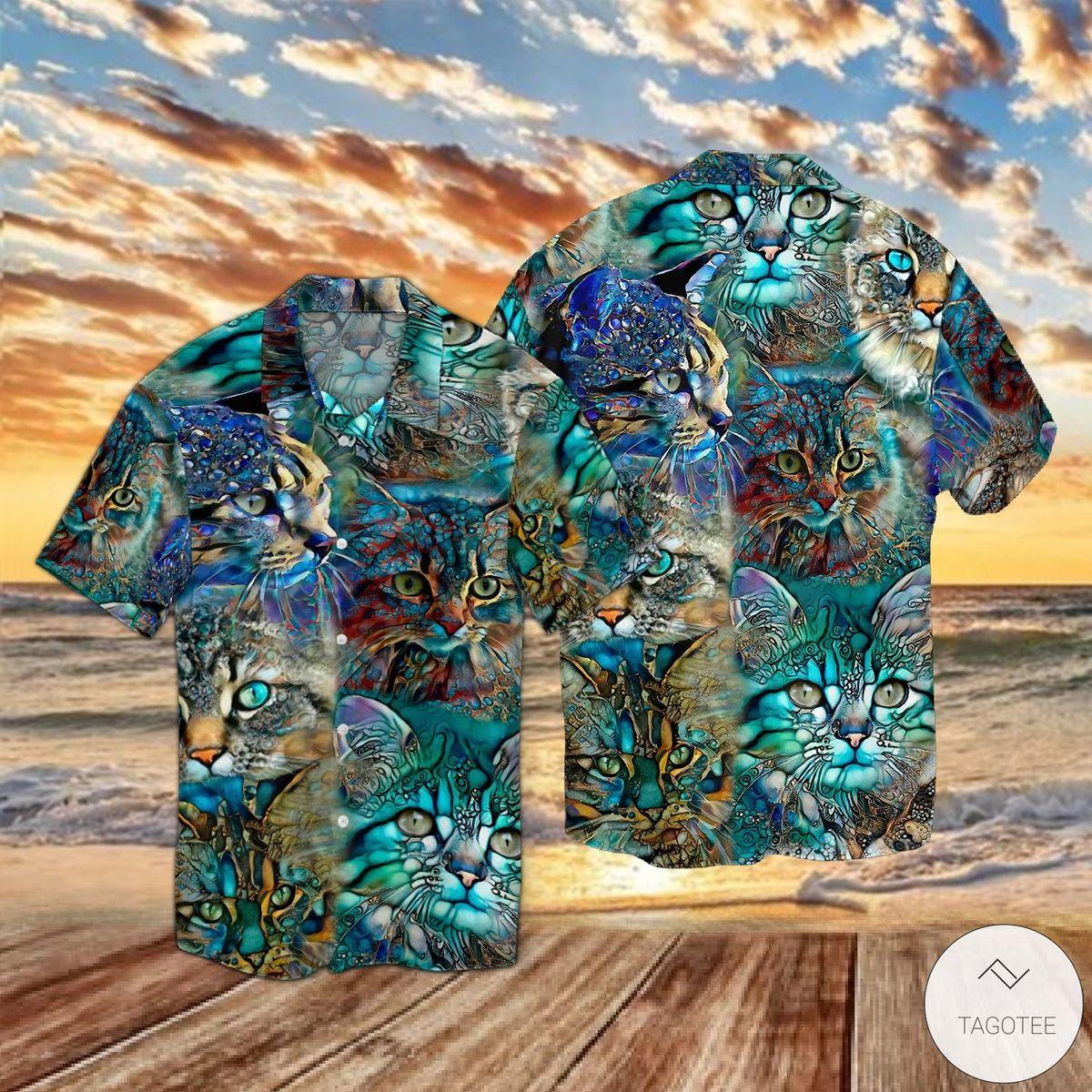 Mystery Cats Hawaiian Shirt