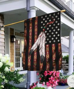 Native Americans Pattern Flag