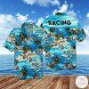 Racing Flag Tropical Pattern Hawaiian Shirt