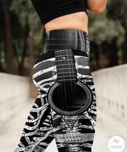 Skelton Guitar High Waist Leggingsz