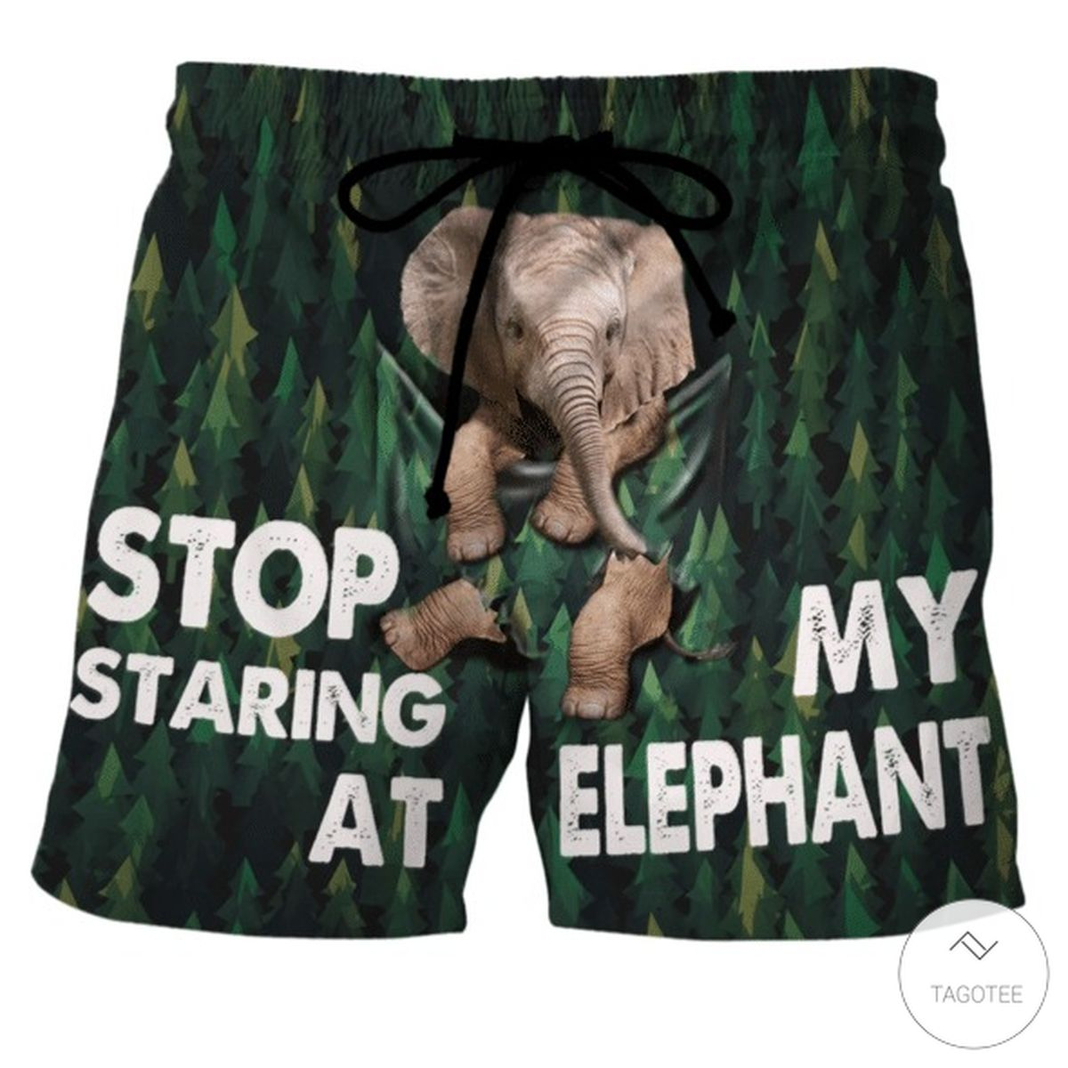 Stop Staring At My Elephant Beach Short