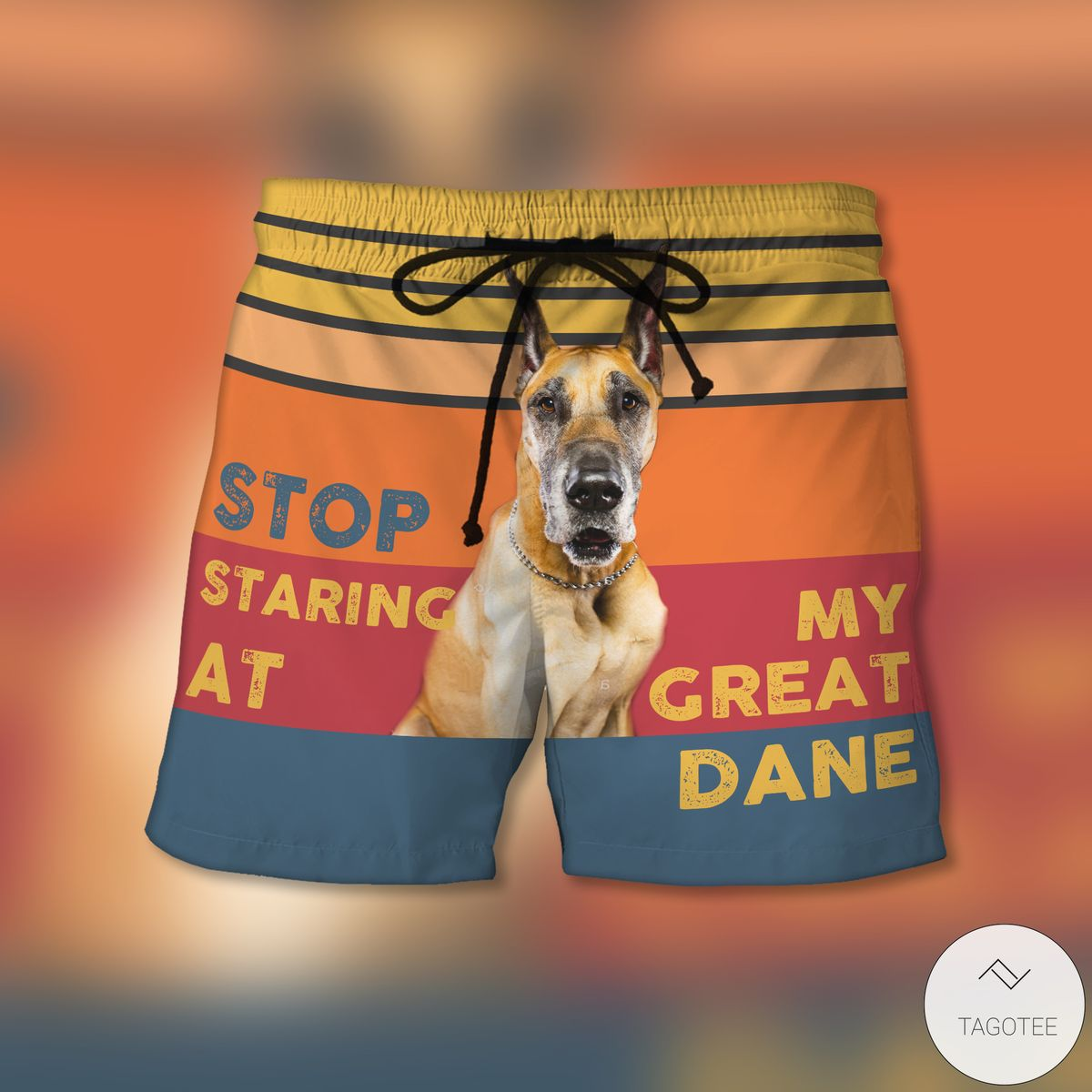 Stop Staring At My Great Dane Beach Shorts