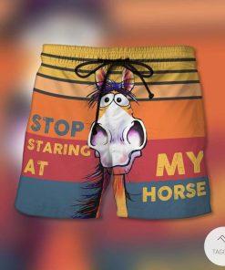 Stop Staring At My Horse Beach Short
