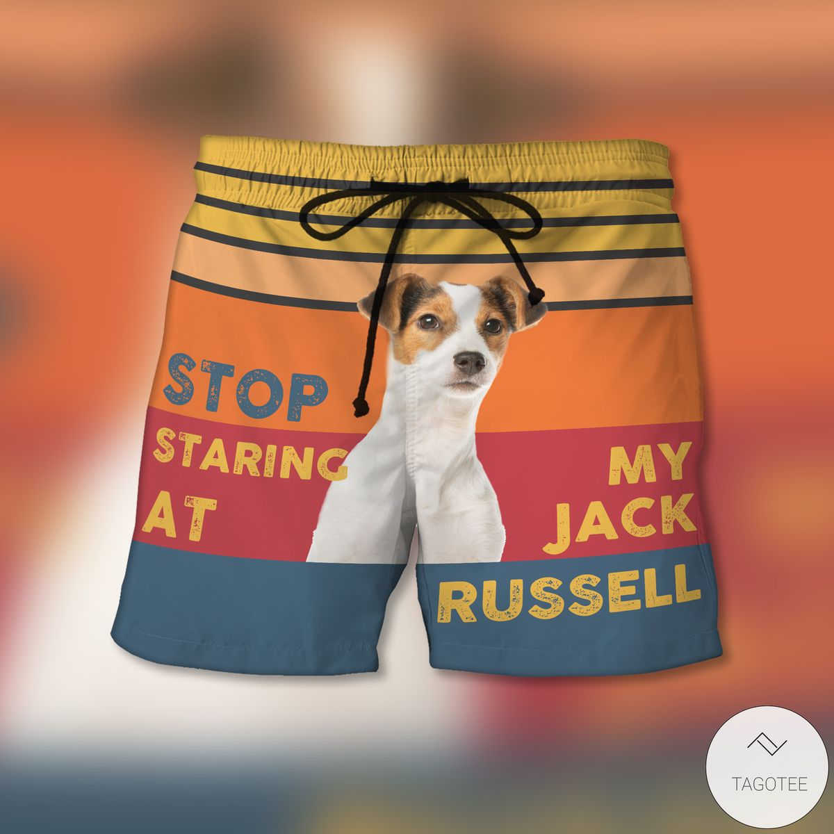 Stop Staring At My Jack Russell Beach Shorts