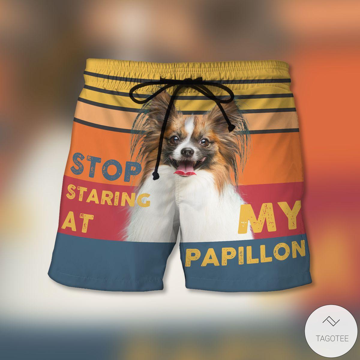 Stop Staring At My Papillon Beach Shorts
