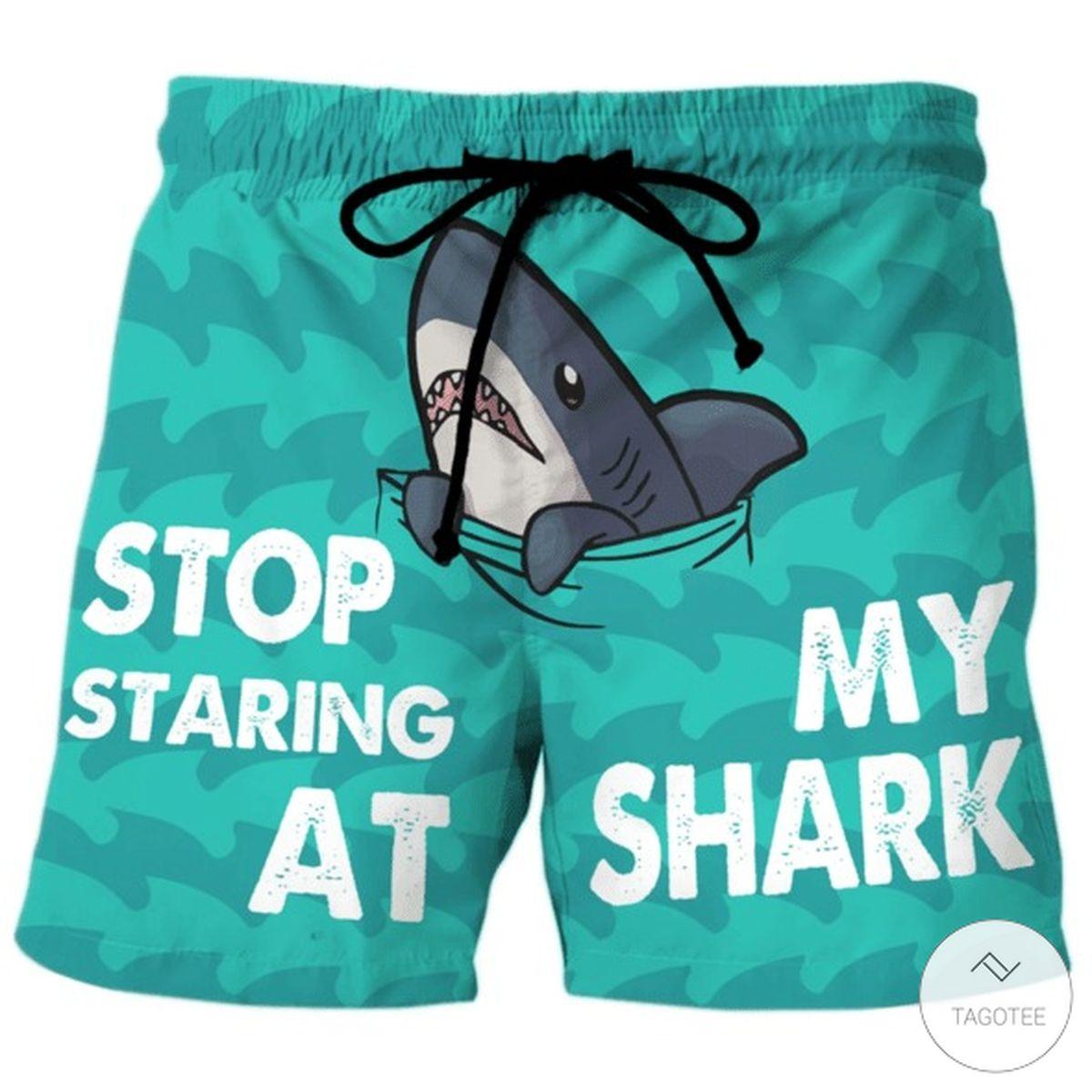 Stop Staring At My Shark Beach Short