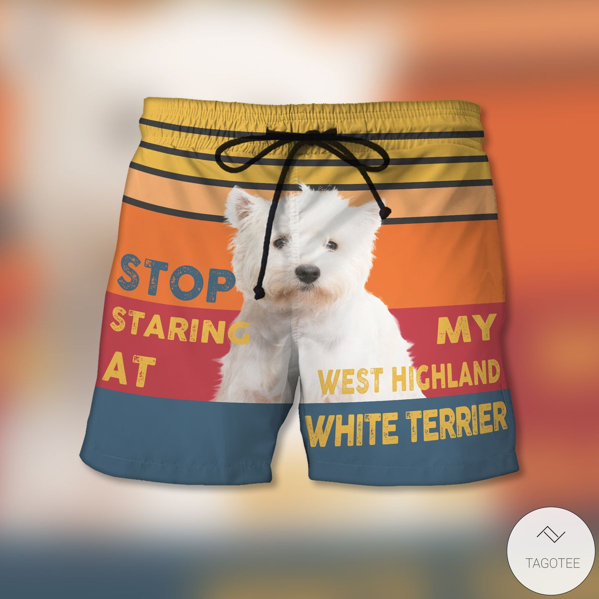 Stop Staring At My Westie Beach Shorts