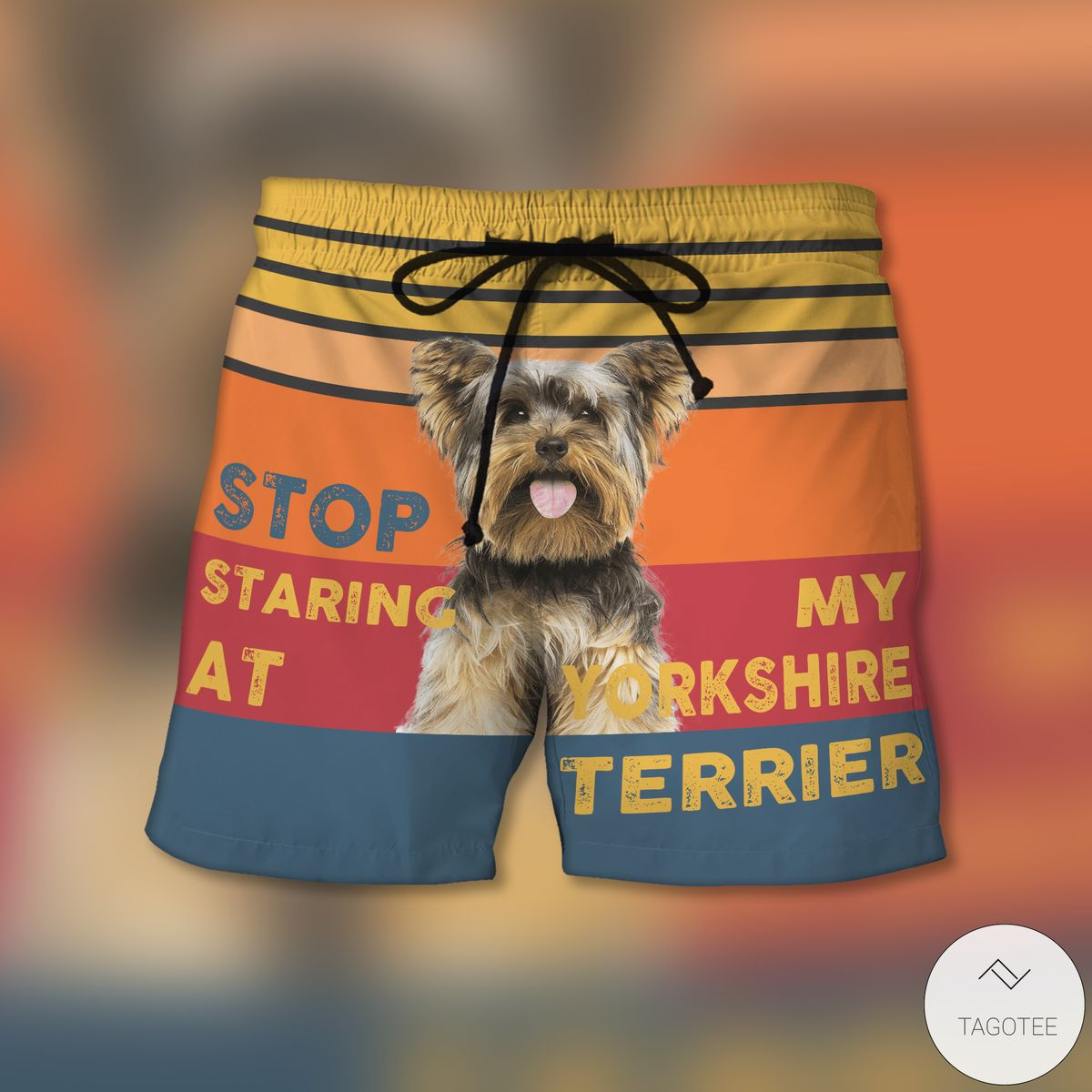 Stop Staring At My Yorkshire Terrier Beach Shorts