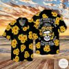Sunflower Skull I Am The Storm Hawaiian Shirt