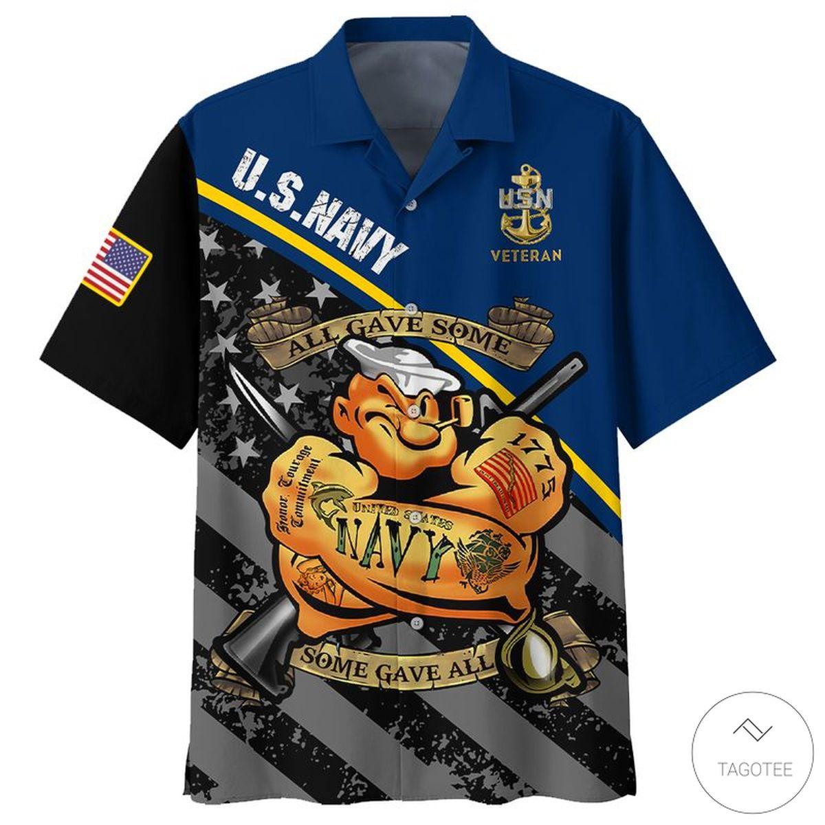 US Navy Veteran All Gave Some Some Gave All Hawaiian Shirt