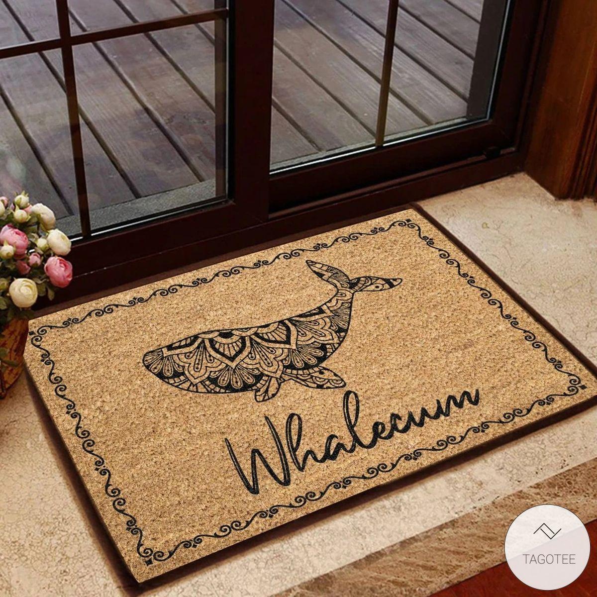 Whalecum Doormat