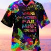 Where Words Fail Music Speaks Hawaiian Shirt
