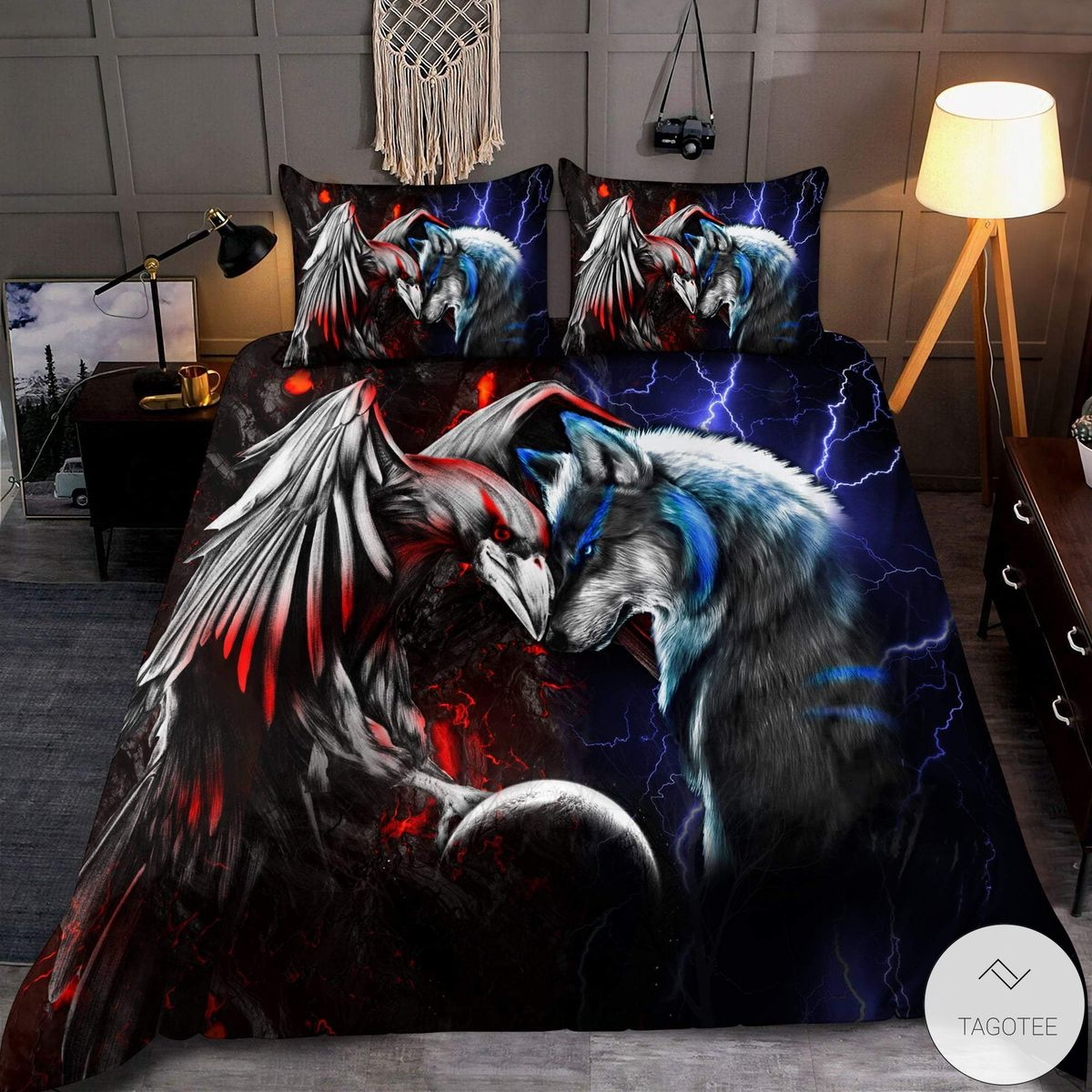 Wolf and Raven bedding set