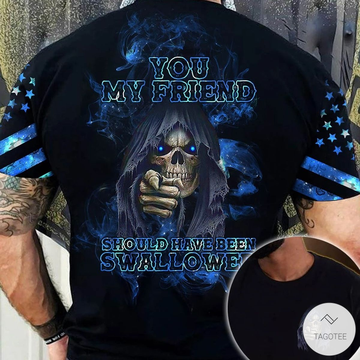 Mother's Day Gift You My Friend Should Have Been Swallowed Skull 3D All Over Print T-shirt, Hoodie