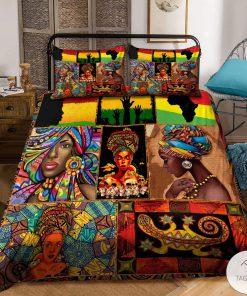 African Black Woman Bedding Set